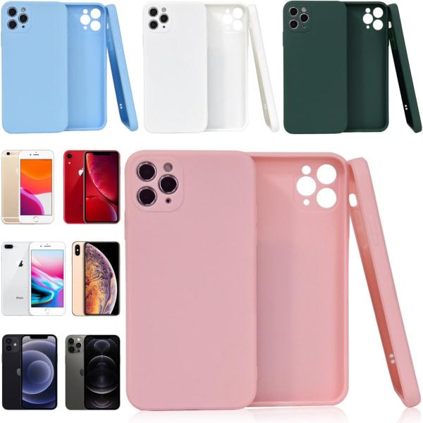 Välj TPU skal Iphone 12/11/XS/X/XR/8/7/6 +/Pro/Max/Mini fodral - Rosa Iphone 7+/8+