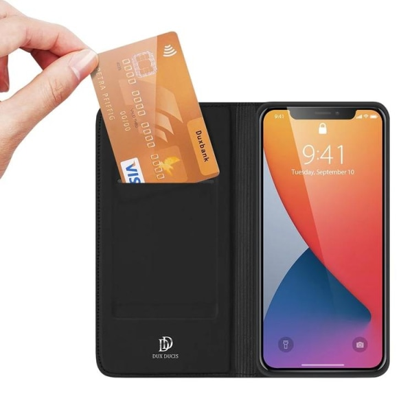 DUX DUCIS Slim Plånboksfodral iPhone 12 Pro Max Svart Black iPhone 12 Pro Max