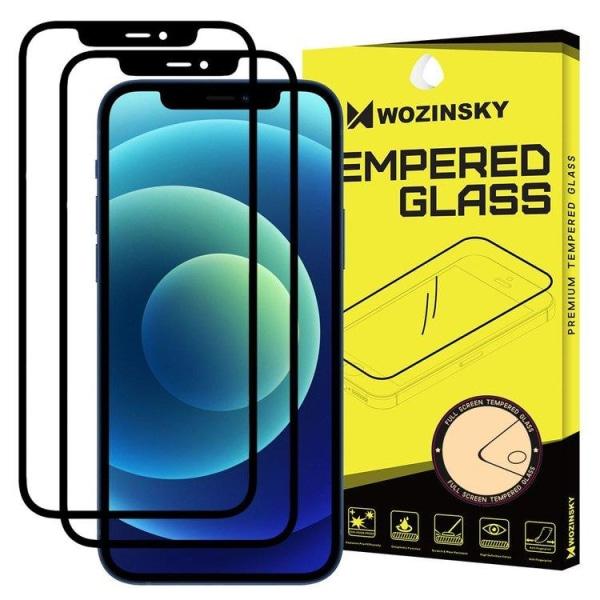 (2-Pack) Heltäckande Härdat Skärmskydd iPhone 12/12 Pro Transparent Apple iPhone 12/12 Pro