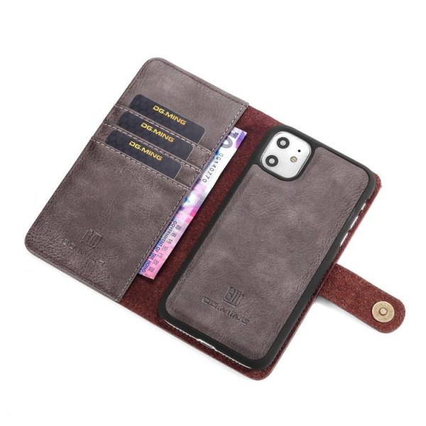 DG.MING Magnet Wallet Apple iPhone 11 Grå Grey Apple iPhone 11