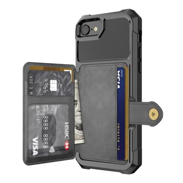 RFID Skyddat Skal Stöttåligt / Korthållare iPhone 7/8/SE 2020 sv Black iPhone 7/8/SE