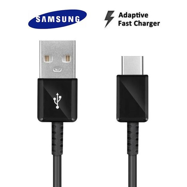Samsung Original Extra lång 1,2m USB-C Kabel / Laddare Svart Black EP-DG950CBE