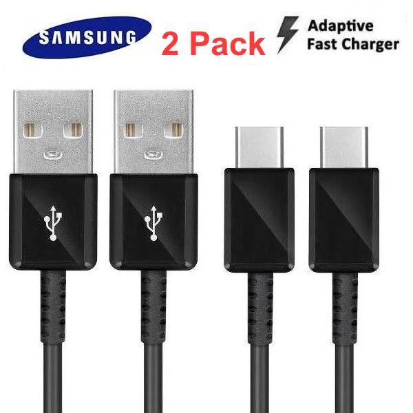 2-Pack Original Samsung Galaxy Laddare USB-C Kabel Svart Black EP-DG950CBE