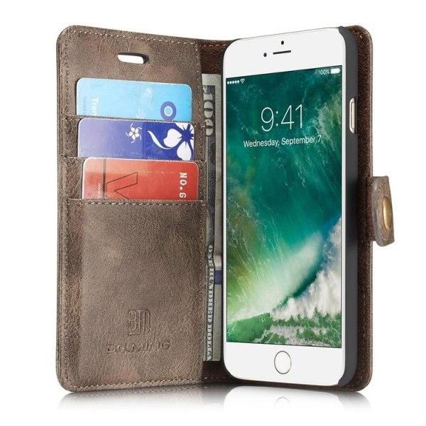 DG.MING 2in1 Magnet Plånboksfodral iPhone 7/8/SE Grå Grey iPhone 7/8/SE