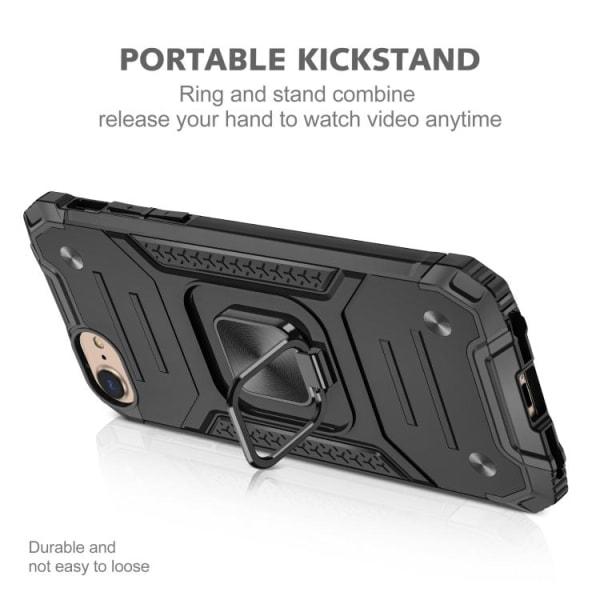 Stöttåligt skal Kickstand Ring iPhone 7/8/SE Svart Black iPhone 7/8/SE