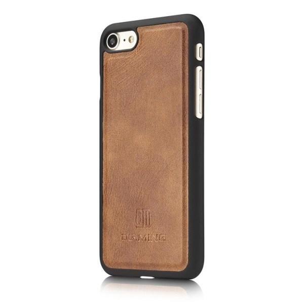 DG.MING 2in1 Magnet Plånboksfodral iPhone 7/8/SE Brun Brown iPhone 7/8/SE