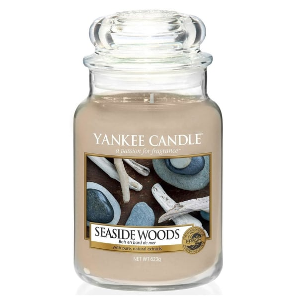 Yankee Candle Classic Large Jar Seaside Woods 623g Beige