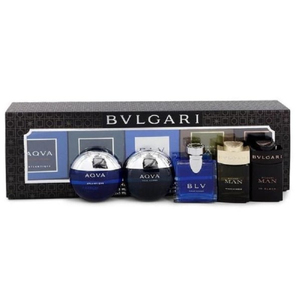 Giftset Bvlgari The Men's Gift Collection 5x5ml Transparent