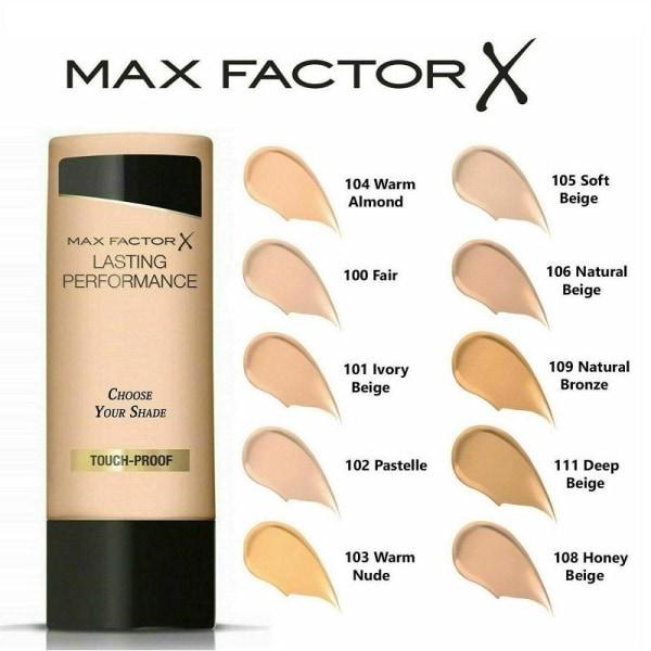 Max Factor Lasting Performance 104 Warm Almond Transparent