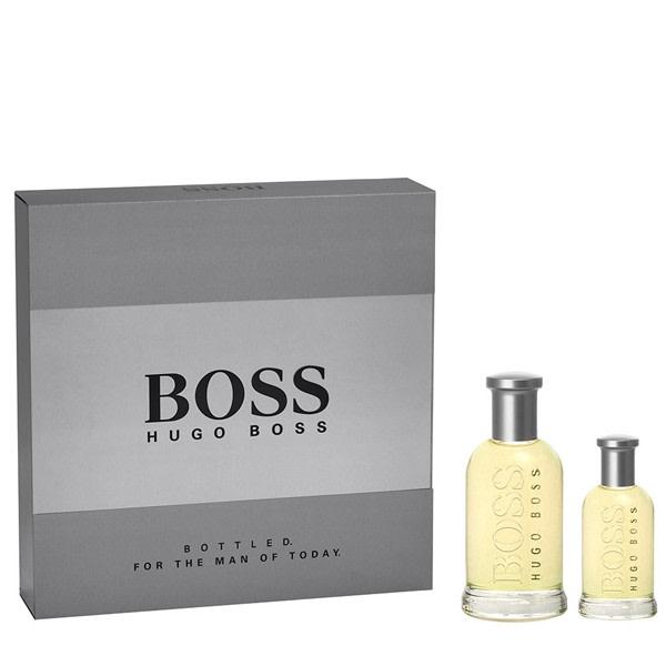 Giftset Hugo Boss Bottled Edt 100ml + 30ml Transparent