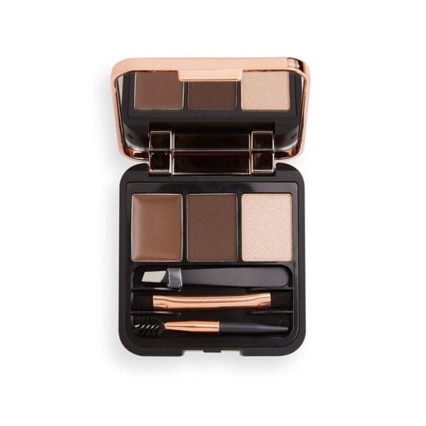 Makeup Revolution Brow Sculpt Kit - Dark Brown Brun