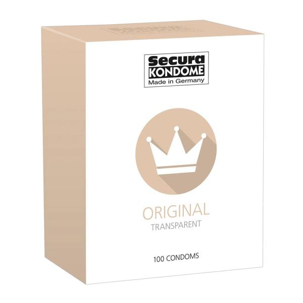 Secura: Original, Kondomer, 100-pack Transparent