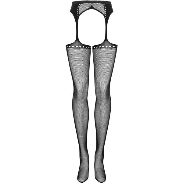 Obsessive: S314 Garter Stocking, S/M/L Svart one size