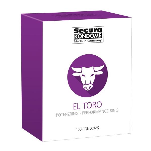 Secura: El Toro, Kondomer, 100-pack Transparent