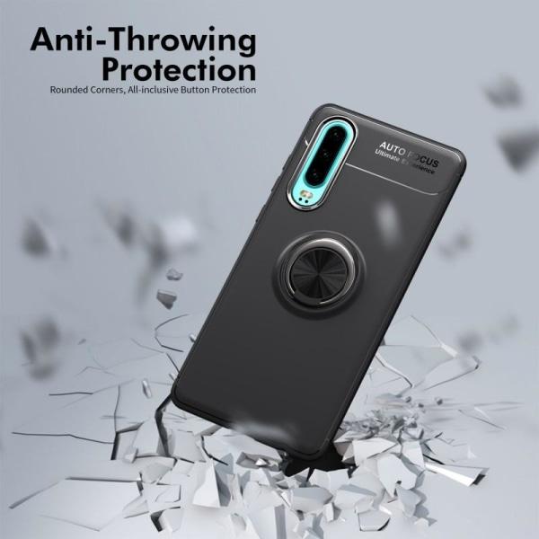 iCoverCase   Huawei P30   Ring Holder Skal  Svart