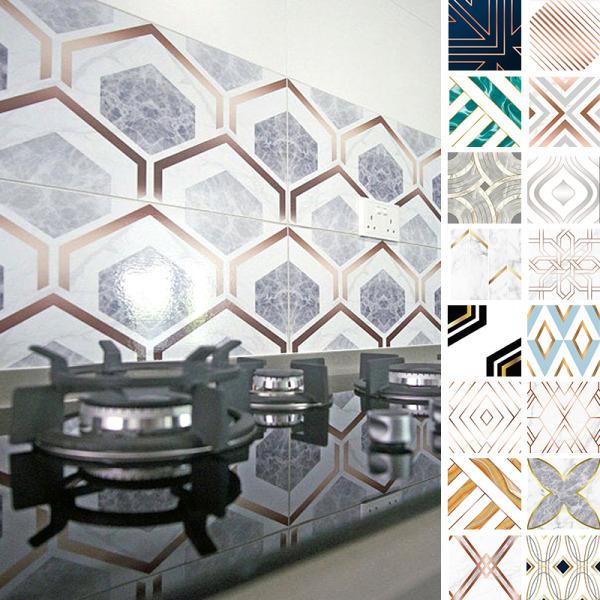 10st kakel klistermärken självhäftan vägg klistermärke vattentät Äckligt 20x20cm