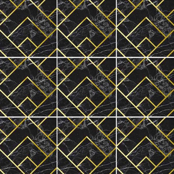 10st kakel klistermärken självhäftande väggdekaler vattentät Svart 20x20cm