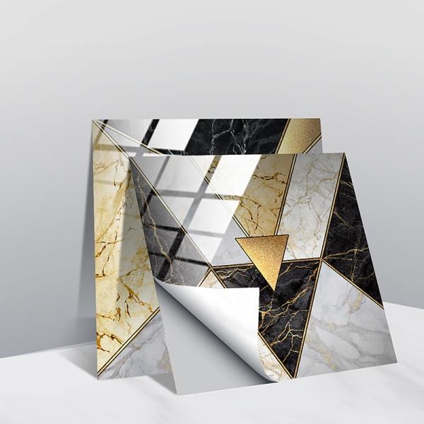 10st moderna kakelväggdekaler självhäftande dekor vattentät Triangel 15x15cm