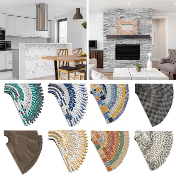 14st kakel klistermärken mosaik självhäftan väggdekor vattentät Vintage färgad sten 55x13.5cm