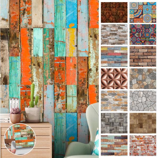 20st moderna kakelväggdekaler självhäftande hemväggdekor 8 # Färgglada tegel 15x15cm