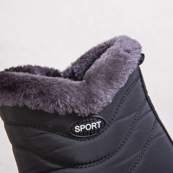 Kvinnors snöstövlar halkfria stövletter skor höga klackar Svart 39