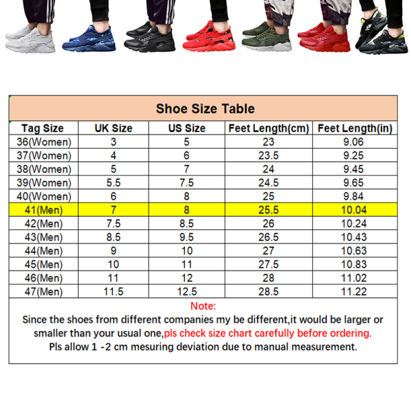 Unisex löparskor snörning avslappnade skor sportskor Svart 39