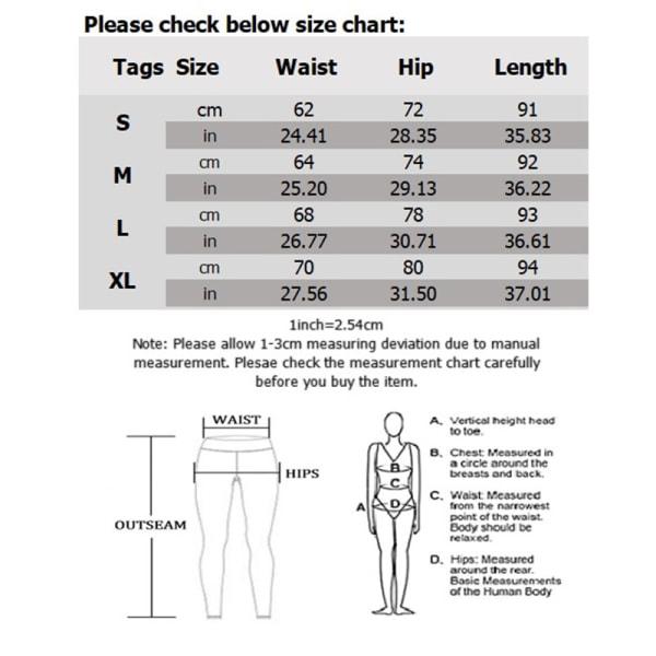 Anti-celluliter yogabyxor för kvinnor med hög midja svart L