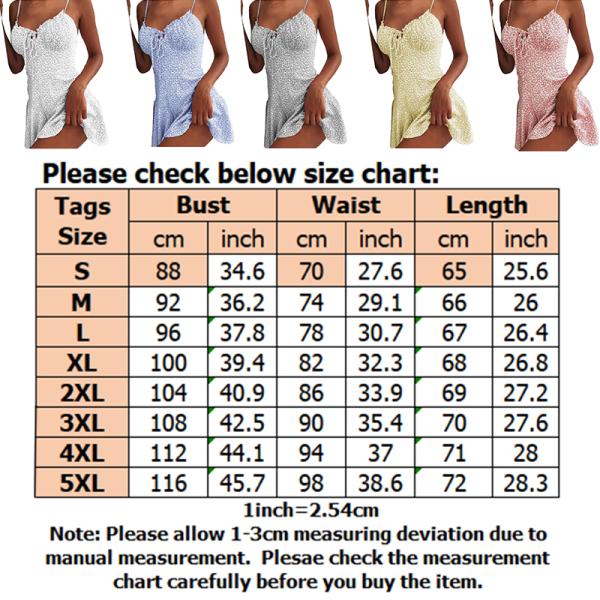 Ärmlös miniklänning för kvinnor Boho Beach Camisole Dress Ljusblå M