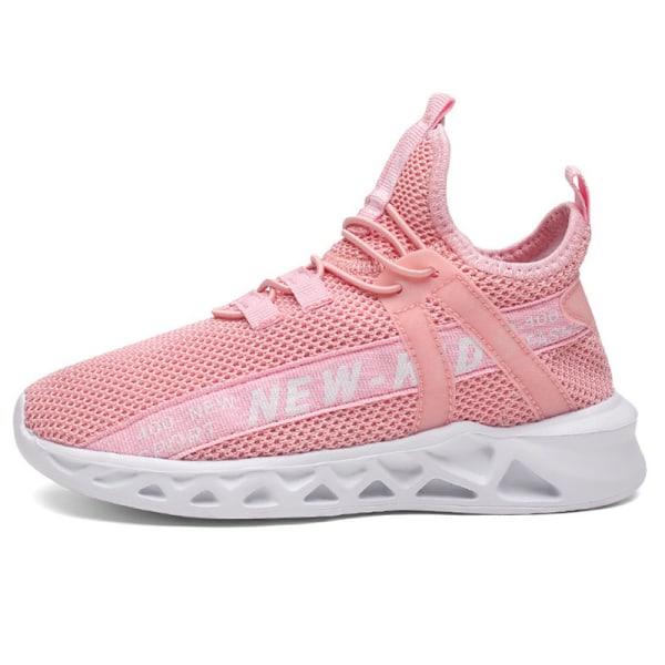 Barn pojkar och flickor andas casual skor löparskor Rosa 34