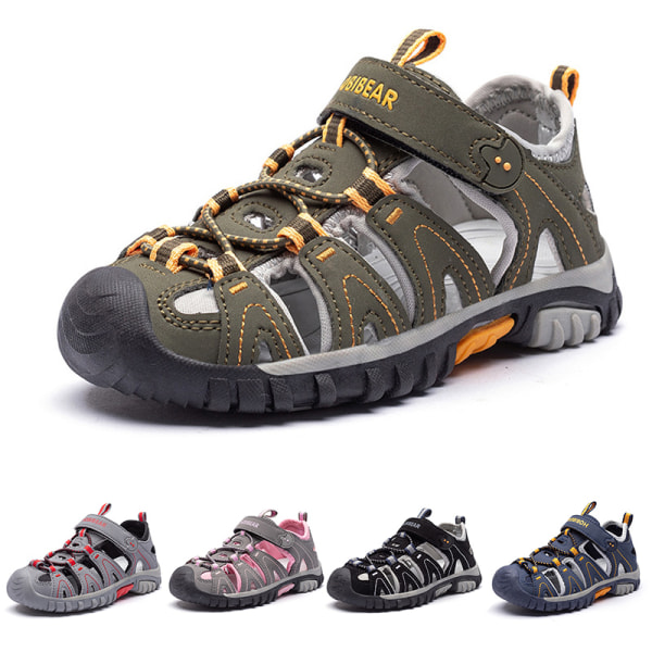 Barn pojkar och flickor barn sandaler bekväma casual skor Blå 21