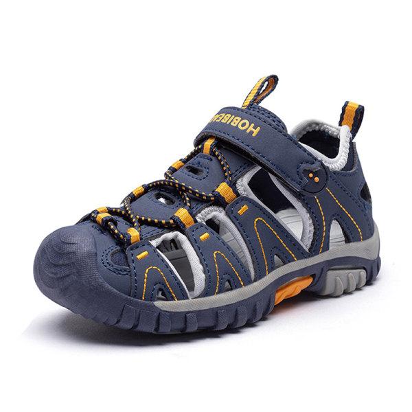 Barn pojkar och flickor barn sandaler bekväma casual skor Blå 32