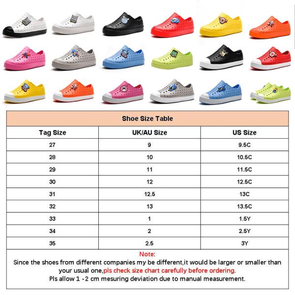 Barn pojkar och flickor ihåliga casual skor enfärgade sandaler Svart Vit 27