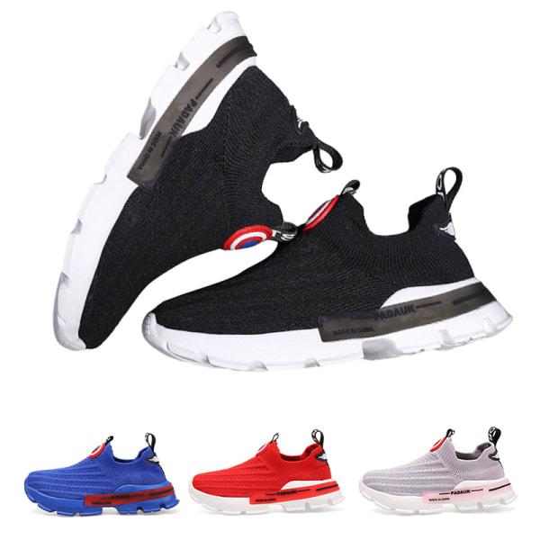 Barn pojkar och flickor låg-sneakers sneakers andas casual skor Blå 29