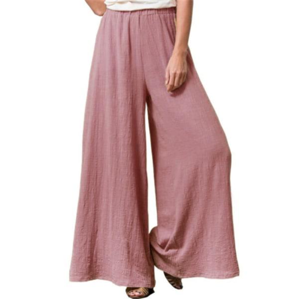Plus Size Ladies Pants Baggy Sweatpants Wide Pants Casual Pants Röd S