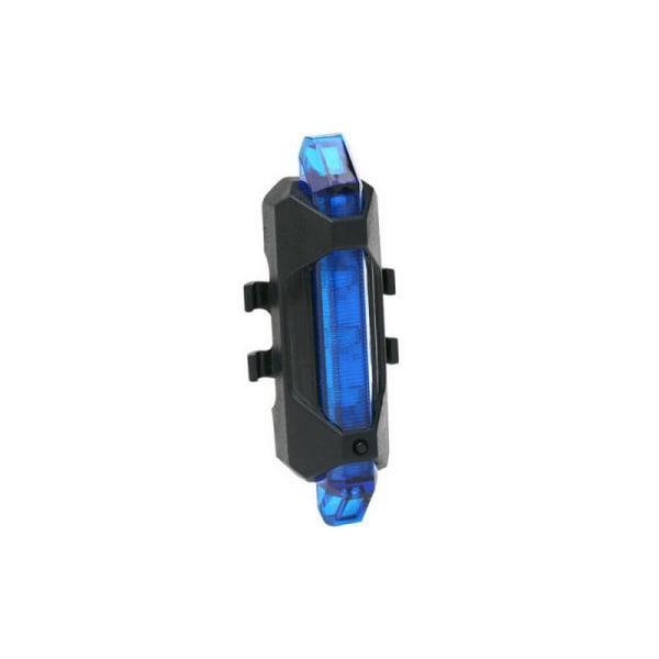Cykel Bakljus LED USB Uppladdningsbar Säkerhetsvarning Baklampa Blå