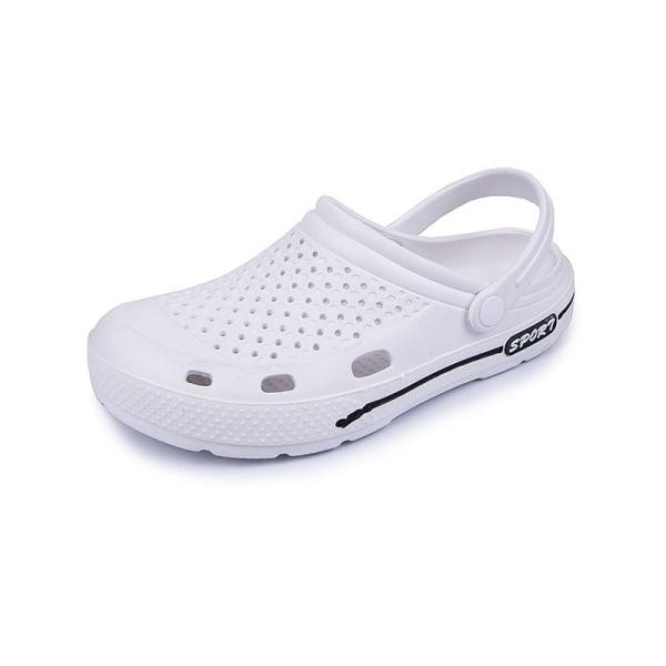 Dam sandaler casual strandskor bekväma platta skor Vit 37