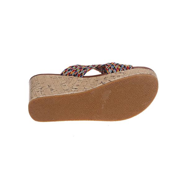 Damer högklackade sandaler öppnar sandaler och tofflor som andas röd 37