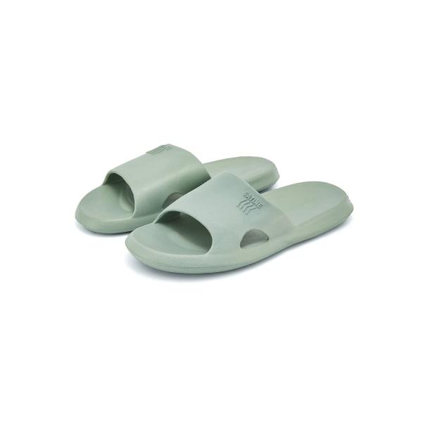 Kvinnors platta tofflor vattentäta badskor mode hemskor grå 38-39