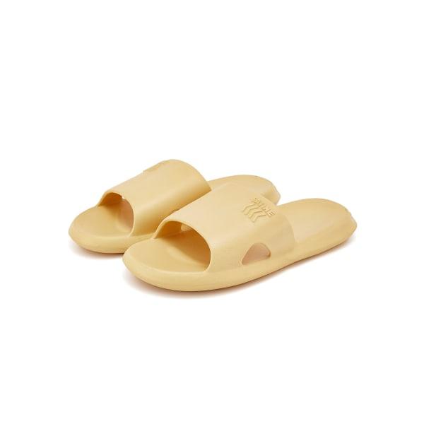 Kvinnors platta tofflor vattentäta badskor mode hemskor gul 36-37