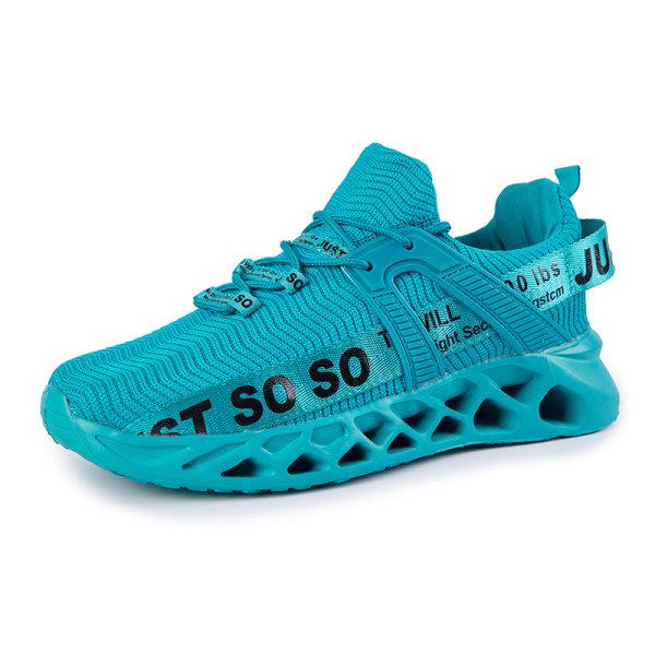Unisex Air Cushion Sneakers Lätta fritidsskor Blå svart 39