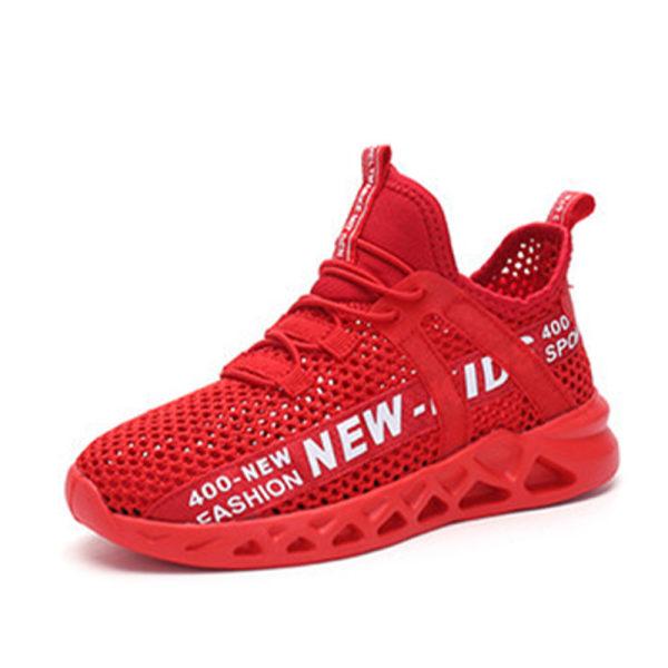 Flickor pojkar barn mode löparskor casual sneakers Röd 34