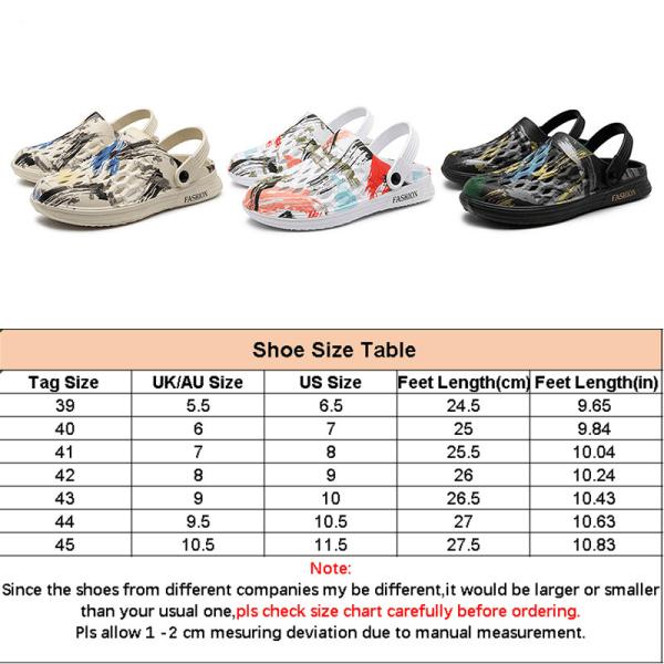 Halkfria sandaler för män kamouflera strandskor mode tofflor Beige 43