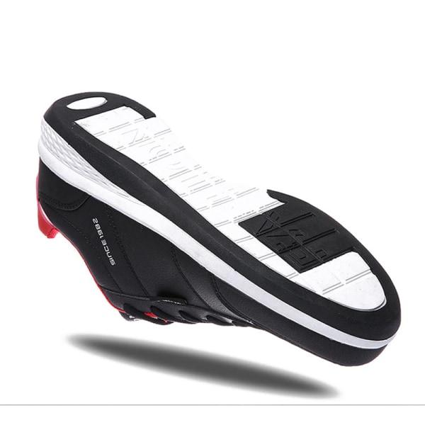 Herrmode avslappnade halkfria sneakers andas fitness tennisskor Svart 44