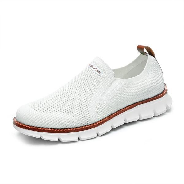 Herrskor andas sportskor utomhus vandring casual skor Vit 41