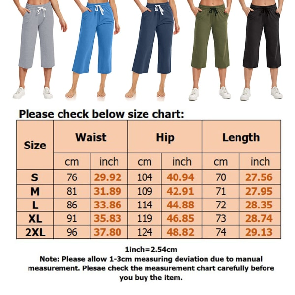 Kvinnor Yoga Midjebyxor Casual Loose Sports Elastic Svart L