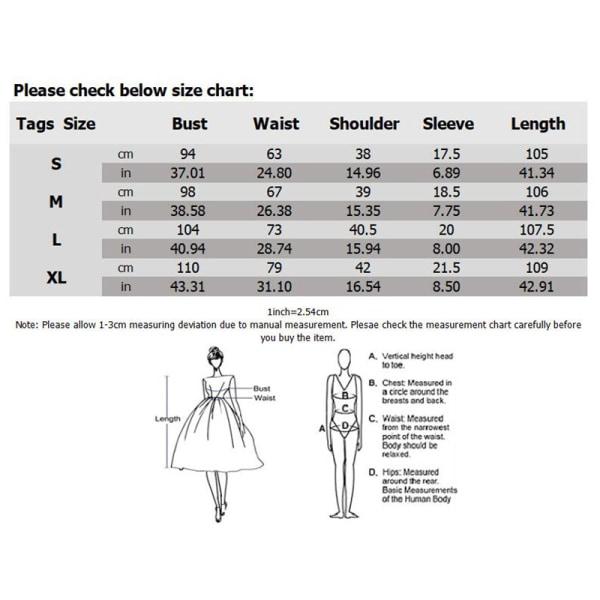 Kvinnors temperament v-ringad avslappnad klänning mode lång kjol Mörkblå L