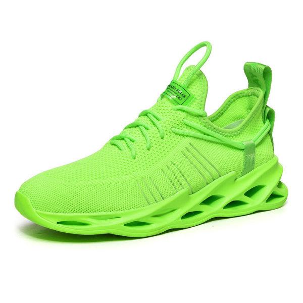 Mäns luftdämpade sportskor löparskor andas fritidsskor Grön 43
