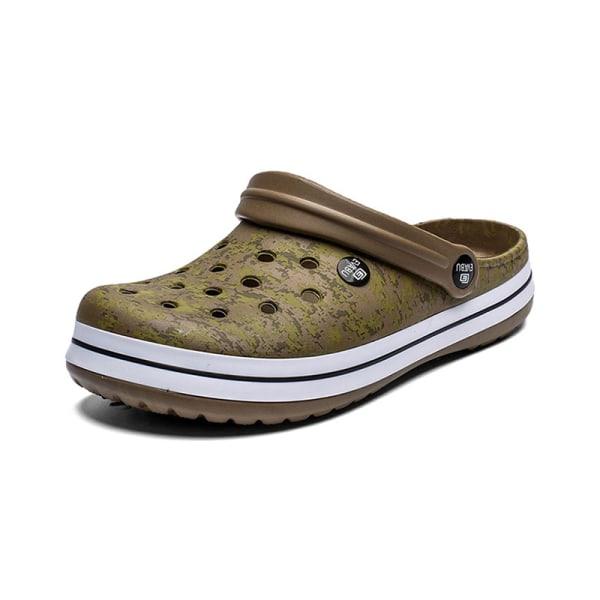 Mäns sommar tofflor sandaler strandskor mode flip flops Grön 42