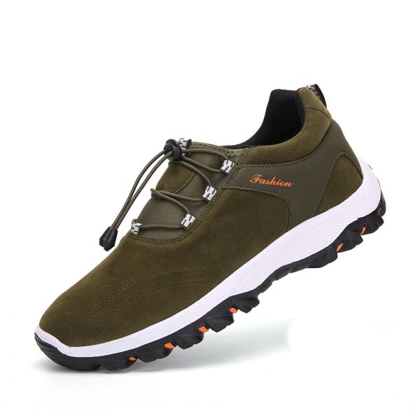 Mäns vandringsskor dragsko sportskor casual skor Grön 47