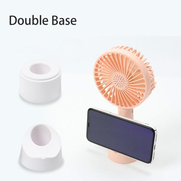 Mini Desktop handhållna fläktar USB uppladdningsbar bärbar blue
